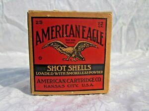 SUPER NICE Vintage American Eagle Shot shell Box