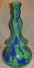 Rare Crazy Color Blue And Green Swirl Barber Bottle Very Nice Polished Pontil