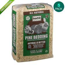 Pine Wood Bedding Hamster Rabbit Dog Cat Parrots 4.0 cu ft, 113 L - (5 Pack)