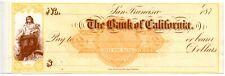 187X  San Francisco, CA.   Revenue Bank Check. RNC 21.  New unused condition.