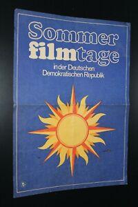 kleines Film Plakat Poster Programm 17.Sommerfilmtage der DDR 1978 Berlin Grünau