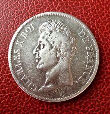 France - Charles X - Très Jolie monnaie de 5 Francs 1826 L