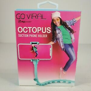 Go Viral Octopus Suction Phone Holder Aqua Suction Cup Flexible Body New Sealed