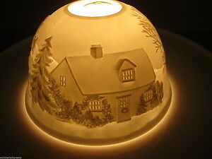 Magic Light, Tealight Dome Lights Starlight Lantern Winter Landscape 2189 B