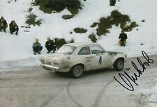 Hannu Mikkola Hand Signed 12x8 Photo Ford Rally 8.