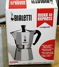 Bialetti Moka Express 6 Cup Silver Made Italy Espresso Maker Stovetop