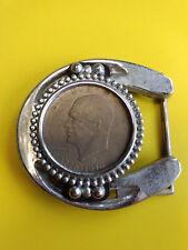 Collectible Liberty Bicentennial Eisenhower Silver Dollar Belt Buckle