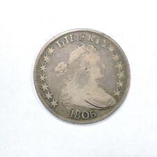 1806 Original Draped Bust Half Dollar Fine condition 50c silver Pointed 6