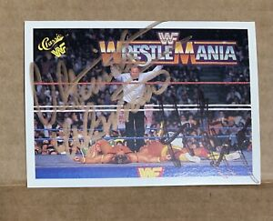 Hulk Hogan Ultimate Warrior #134 Classic 1990 Autographed Wrestling Card WWF WWE