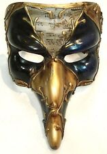 Mask~LONG NOSE MASQUERADE MASK VENETIAN STYLE FOR PARTY/FANCY DRESS BLACK/BLUE
