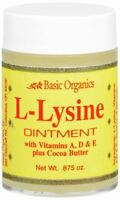Basic Organics L-Lysine Ointment 0.87 oz (Pack of 2)