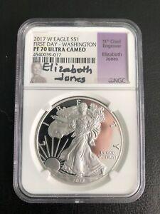 2017- W -$1 FIRST DAY WASHINGTON NGC-PR-70UC $1 RARE