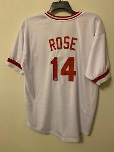 Pete Rose Signed Cincinnati Reds Jersey PSA/DNA COA AUTO Autograph