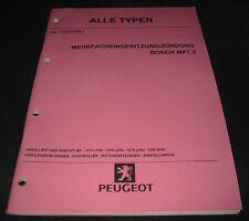 Werkstatthandbuch Peugeot Mehrfacheinspritzung Zündung Bosch MP7.3 Stand 06/1999