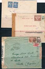 Colombia. Tres cartas circuladas. Dos cartas con Censuras Militar