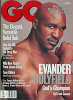 EVANDER HOLYFIELD February 1999 GQ Gentlemen's Quarterly CHRISTIAN McBRIDE
