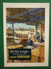 4/57 PUB VICKERS ARMSTRONGS VANGUARD AIRLINER BEA AIRLINE / ROTAX  AD