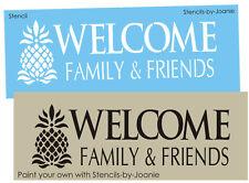 Primitive Pineapple Stencil Colonial Welcome Family Friends Historic Home decor