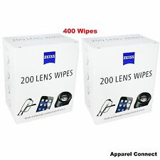 Zeiss 400 Pre-Moist Lens Wipes, 2x200 pks  ideal glasses, Camera Cleaning Wipes