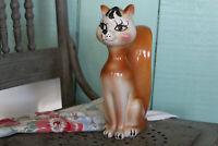 "Vintage Large Pottery Fox Bank, 10 1/4"" Ceramic Fox Bank, Red Fox Piggy Bank"