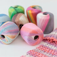 50g 5# Crochet Lace Cotton Crochet Yarn Hand Machine Knit Crochet Thread 67UK