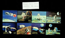 BHUTAN SPACE SATELLITE MAN ON MOONSET OF 8 3D MNH STAMPS