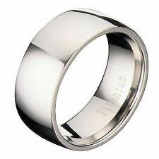 8mm Polished Comfort Fit Titanium Wedding Ring Band Size 10