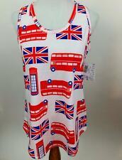 LULAROE British Union Jack print Jersey knit Tank Women's L NEW NWT