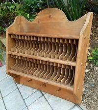 Mail letter sorter coat key rack Shelf wall mount wood office vintage primitive