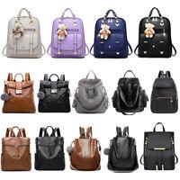 Women Girl Backpack PU Leather Satchel Lady Shoulder Bag Travel School Rucksack