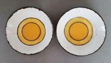 MIDWINTER STONEHENGE SUN Set of 2 Fruit/Sauce/Dessert Bowls Yellow Orange Circle