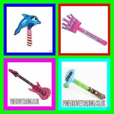 10 MIXED INFLATABLE TOYS GUITAR DOLPHIN HAMMER SWORDS