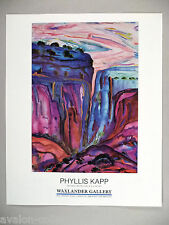 Phyllis Kapp Art Gallery Exhibit PRINT AD - 1990 ~~ Red Mesa