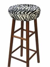 Klear Vu Gripper Tiger Black & White Barstool Cover