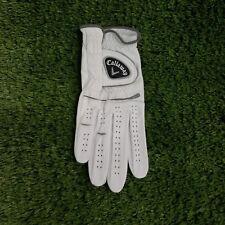 Callaway Medium Leather Golf Glove Worn On Right Hand One Piece Design M