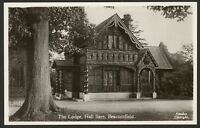 Buckinghamshire. Beaconsfield. The Lodge, Hall Barn. Vintage Real Photo Postcard