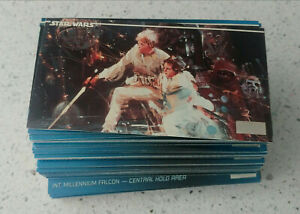Vintage 1994 Topps Star Wars WideVision Complete Set~120 Card Set