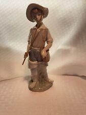 Lladro Fisher Boy Going Fishing with Fishing Rod Figurine #4809 w/original box
