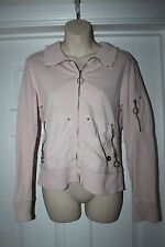 Ladies Pink Cotton Jacket Size 10 River Island