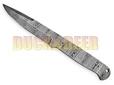 """9""""  HANDMADE FORGED DAMASCUS Steel Blank Blade HUNTING KNIFE Full Tang Y:109"""