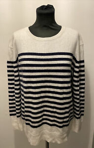 Baukjen Breton Striped Style Wool Blend Jumper UK Size 12