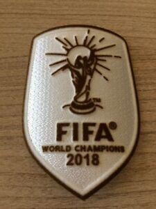 Exclu Patch Badge Champion Du Monde 2018 version Blanc Equipe de France