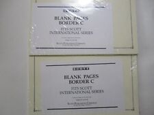 stamp supplies- 2 pack of Scott blank pages for Int'l albums border C #acc130
