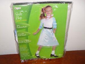 1950'S 50'S GIRL blue POODLE SKIRT SCARF COSTUME SOCK HOP DIVA COSTUMES size 4-6
