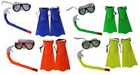 Junior / Children Snorkel Mask / Goggles & Fin Set in Bright Colours
