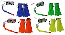 Junior / Kinder Schnorchel Maske / Brille & Fin Set Helle Farben