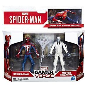 "Marvel Gamerverse Spider-man & Mister Negative Action Figures 3.75"" BNIB"