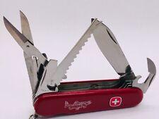 RETIRED WENGER SWISS ARMY FLY FISHERMAN TROUT Pocket Knife MULTI TOOL SAK
