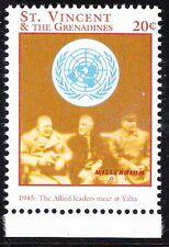 Roosevelt Stalin & Churchill, 1945 Yalta Meet, St Vincent MNH  -C22