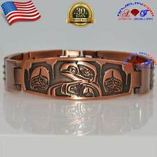 COPPER GOLF MAGNETIC BRACELET BUCKLE ATTRACTIVE MEN ALIEN DESIGN X39_AL_C